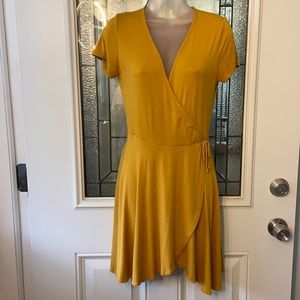 Rolla Coster Mustard color Faux wrap Dress Size  M